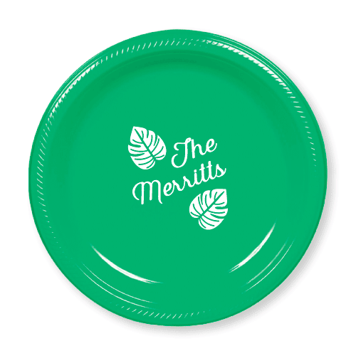 Tropical Leaves Plastic Plates
