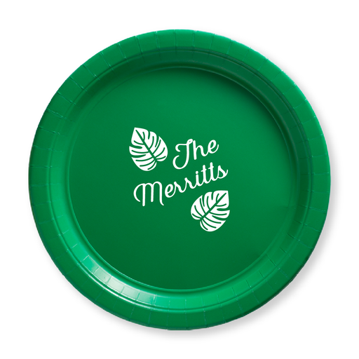 Tropical Leaves Paper Plates