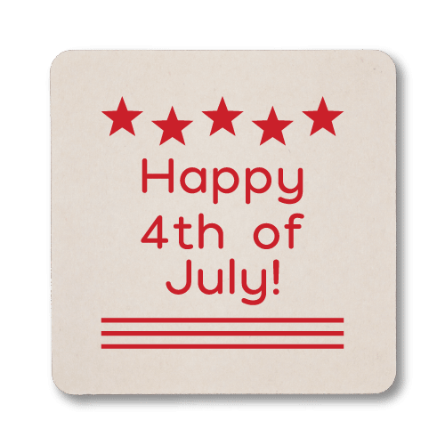 Happy 4th of July Coasters