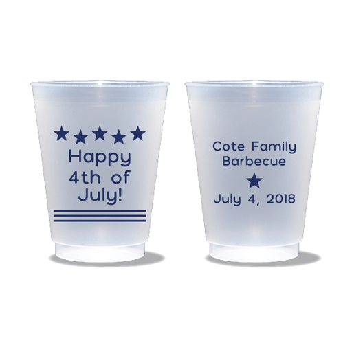 Happy 4th of July Frosted Cups