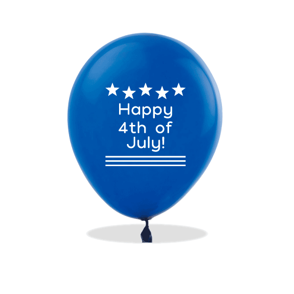 Happy 4th of July Latex Balloons