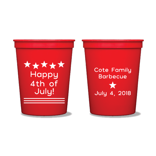 Happy 4th of July Party Cups