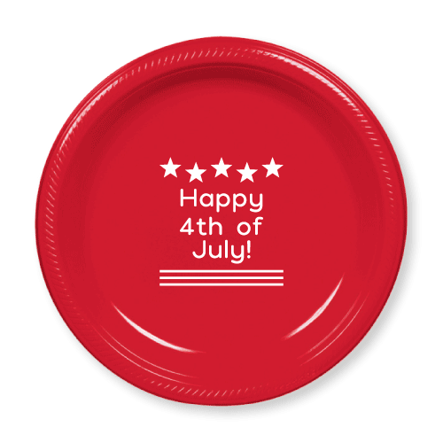 Happy 4th of July Plastic Plates