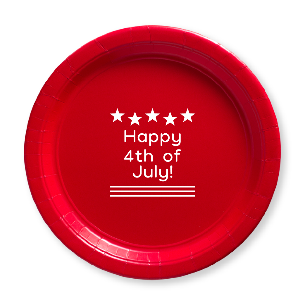 Happy 4th of July Paper Plates