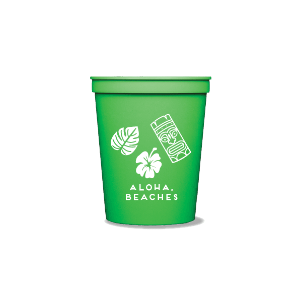 Aloha Beaches Party Cups