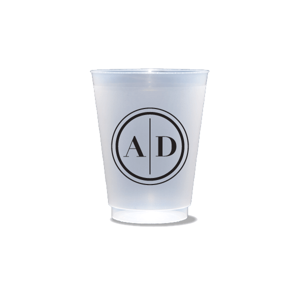 Monogram Circle Frosted Cups