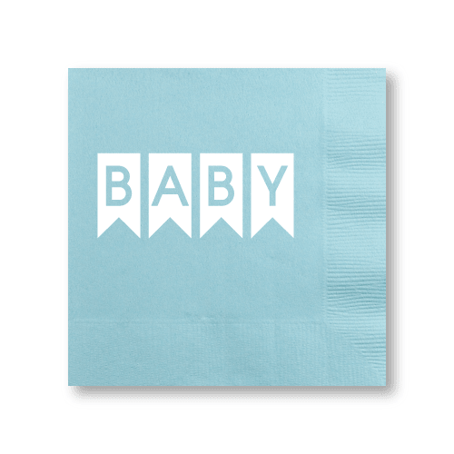 Baby Pennant Cocktail Napkins