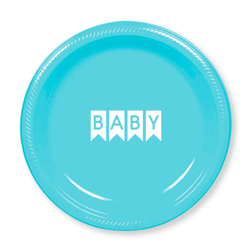 Baby Pennant Plastic Plates
