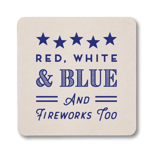 Red, White, Blue & Fireworks Too Coasters