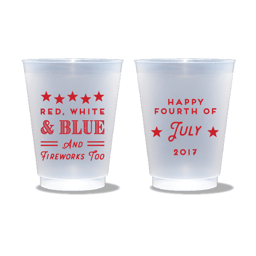 Red, White, Blue & Fireworks Too Frosted Cups