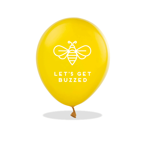 Let's Get Buzzed Latex Balloons