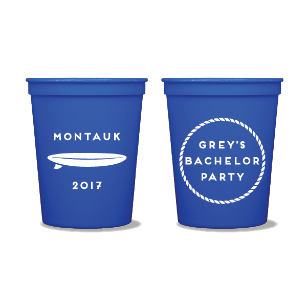Surfboard Bachelor Party Party Cups
