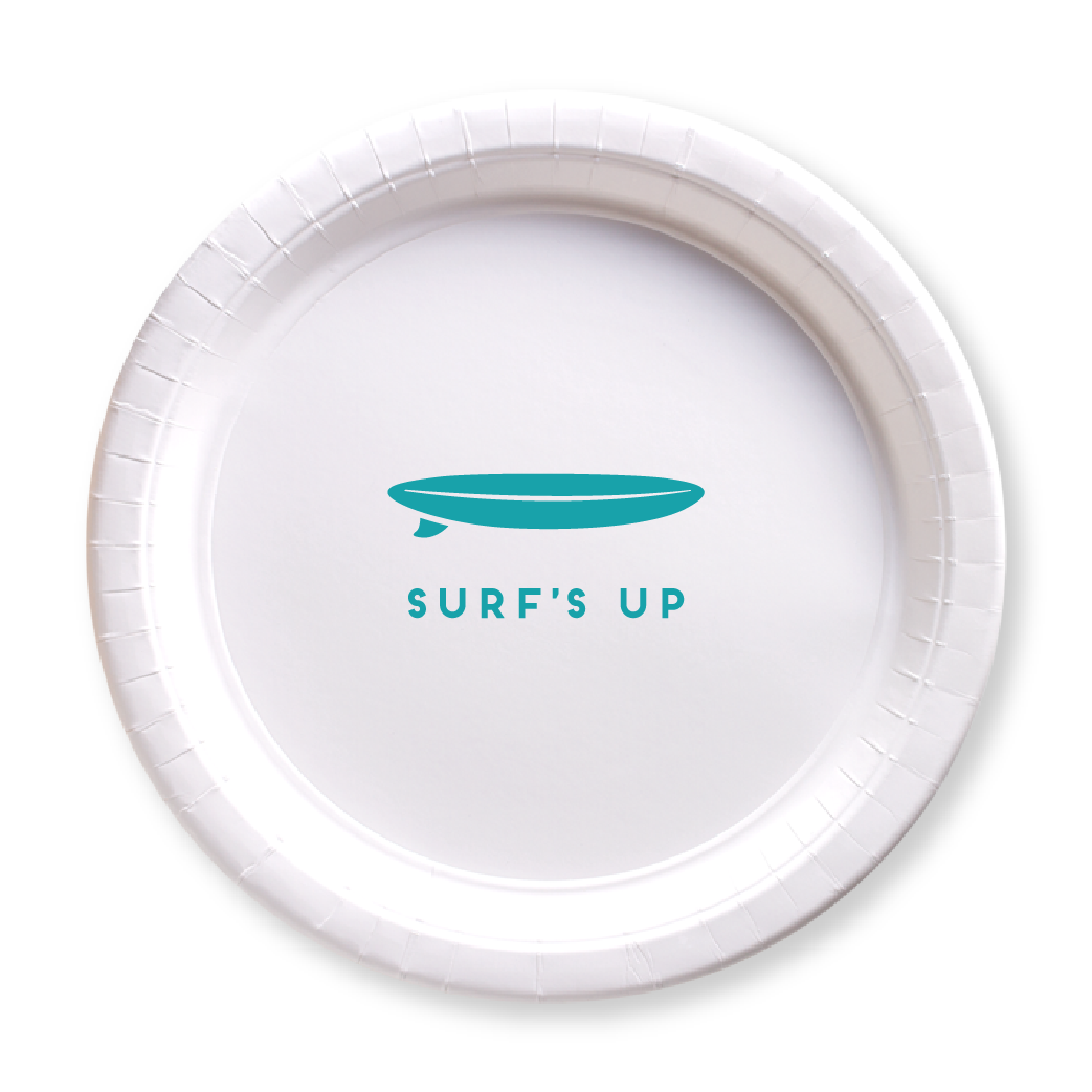 Surf's Up Paper Plates
