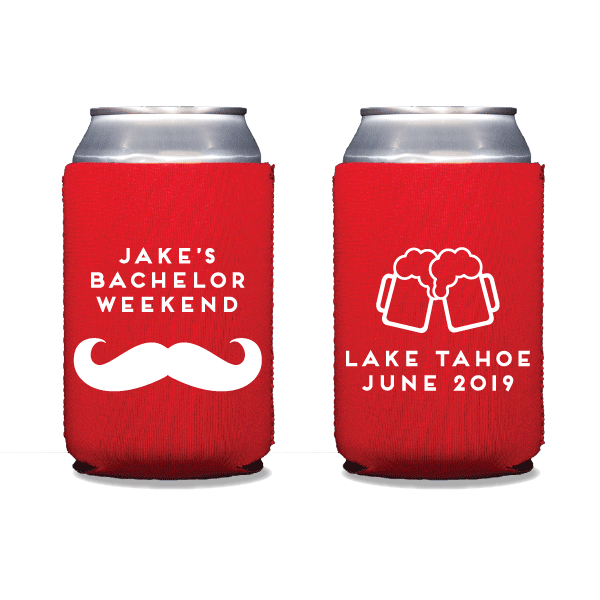 Mustache Bachelor Party Can Coolers