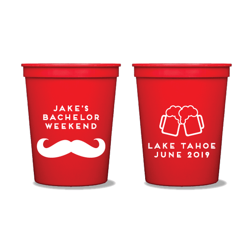 Mustache Bachelor Party Party Cups