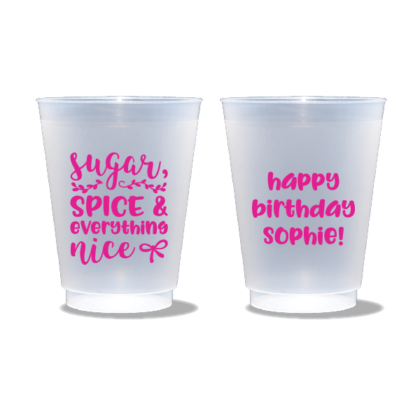 Sugar, Spice & Everything Nice Frosted Cups