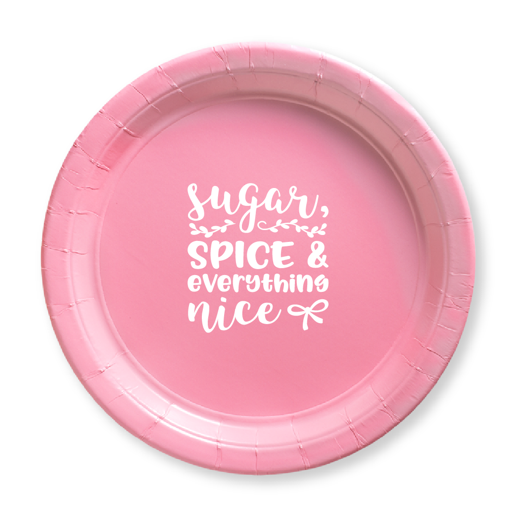 Sugar, Spice & Everything Nice Paper Plates