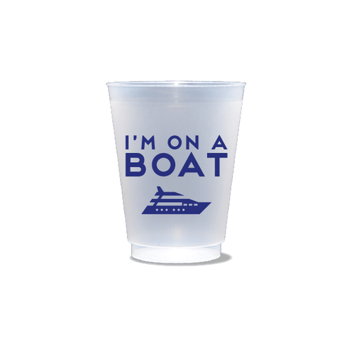 I'm On a Boat Frosted Cups
