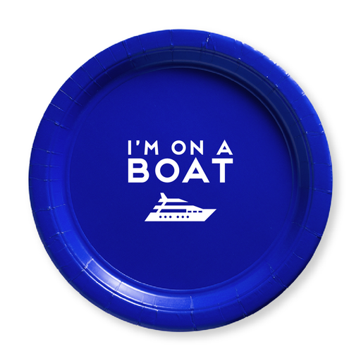 I'm On a Boat Paper Plates