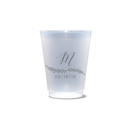 Monogrammed Garland Frosted Cups