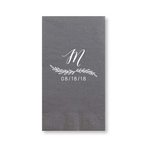 Monogrammed Garland Guest Towels