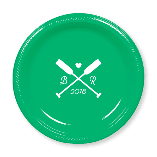 Wedding Oars Plastic Plates