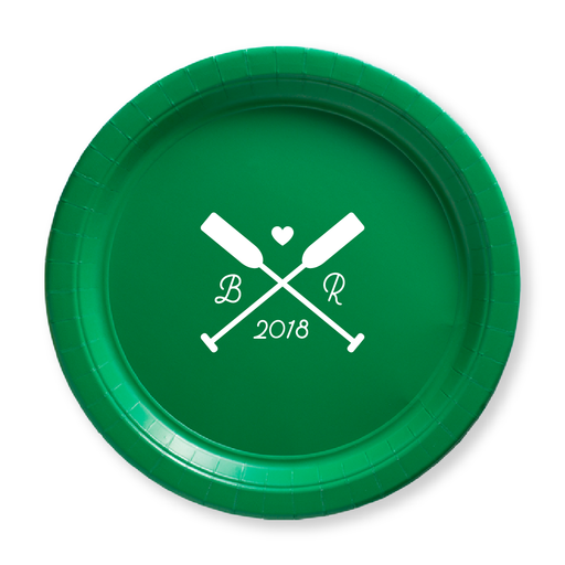 Wedding Oars Paper Plates