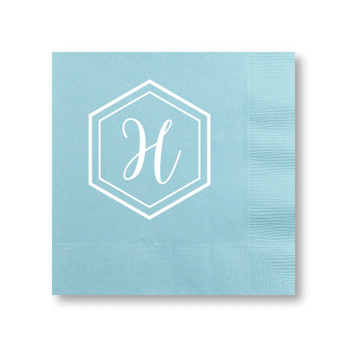 Geo Monogram Cocktail Napkins