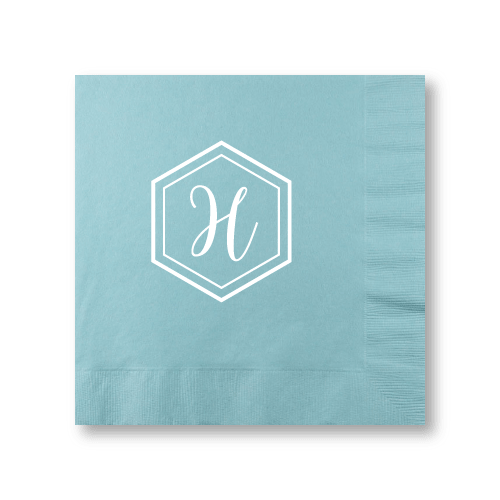Geo Monogram Dinner Napkins