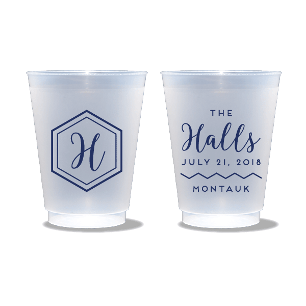 Geo Monogram Frosted Cups