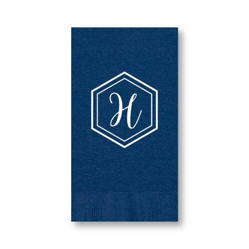 Geo Monogram Guest Towels