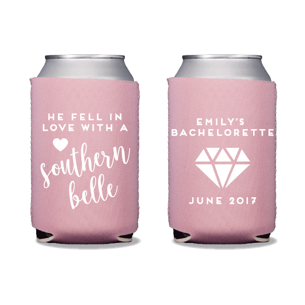 Southern Belle Bachelorette Can Coolers