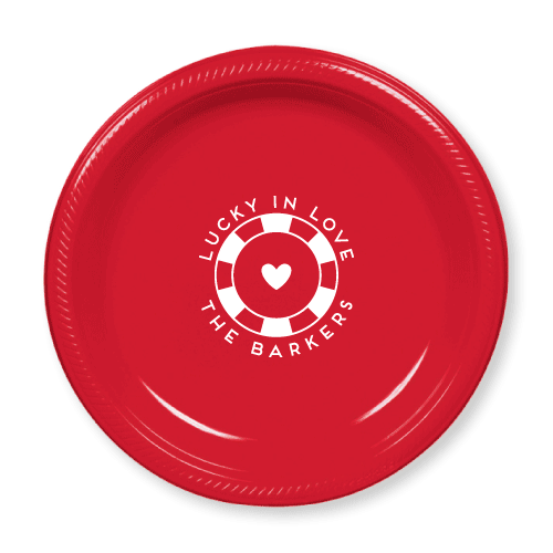 Lucky In Love Plastic Plates