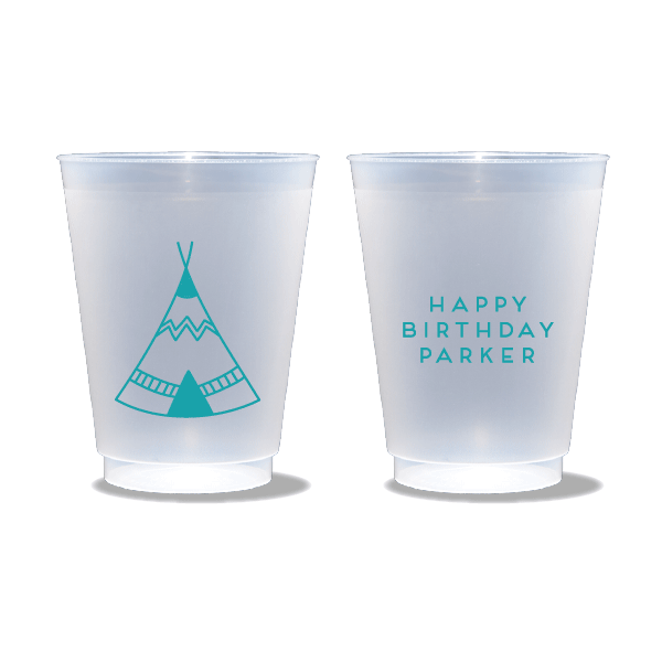 Birthday Teepee Frosted Cups