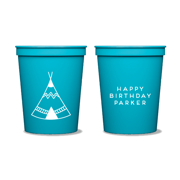 Birthday Teepee Party Cups