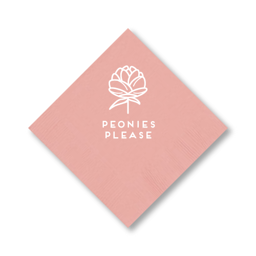 Peonies Please Cocktail Napkins