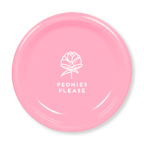 Peonies Please Plastic Plates