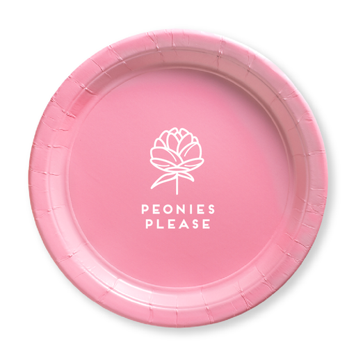 Peonies Please Paper Plates