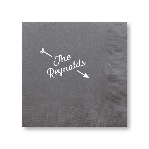 Arrow Name Dinner Napkins