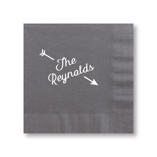 Arrow Name Luncheon Napkins
