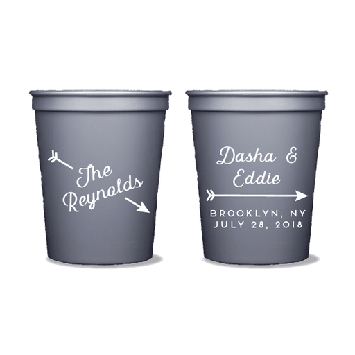 Arrow Name Party Cups