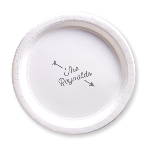 Arrow Name Paper Plates