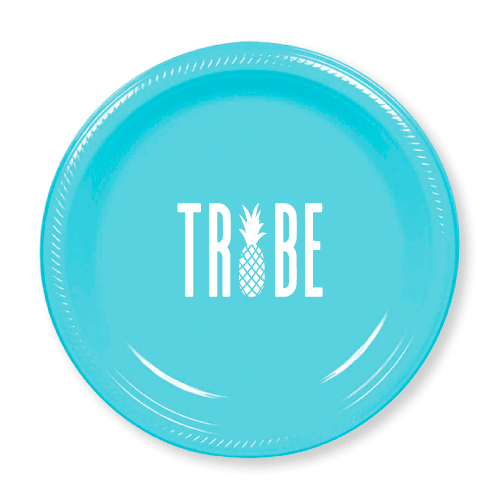Pineapple Tribe Plastic Plates