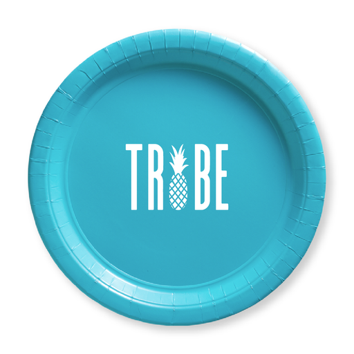 Pineapple Tribe Paper Plates