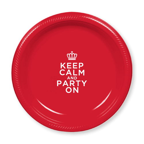 Keep Calm and Party On Plastic Plates