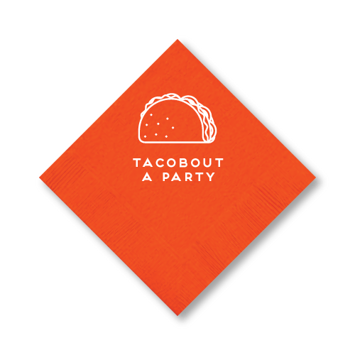 Tacobout a Party Cocktail Napkins
