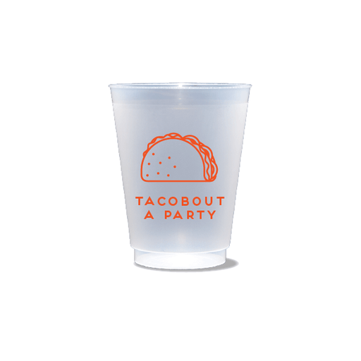 Tacobout a Party Frosted Cups