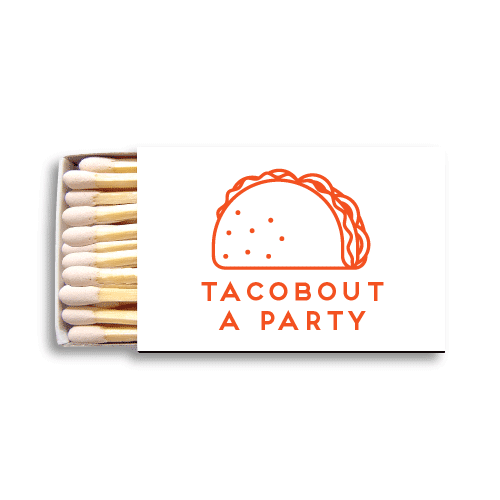 Tacobout a Party Matchboxes