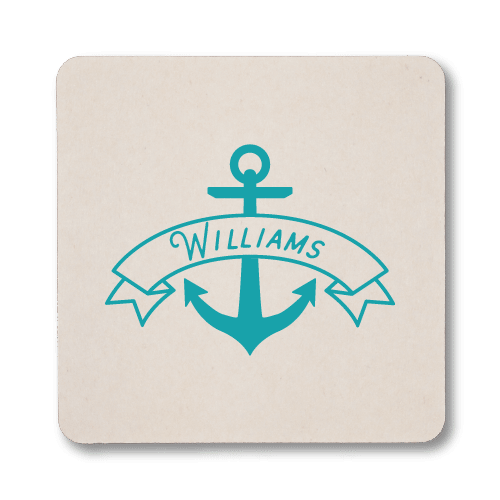 Anchor Banner Coasters