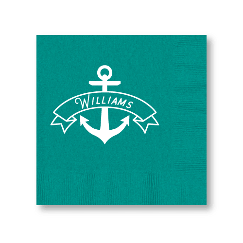 Anchor Banner Cocktail Napkins
